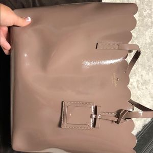 Kate Spade New York Patent Leather Scalloped Tote